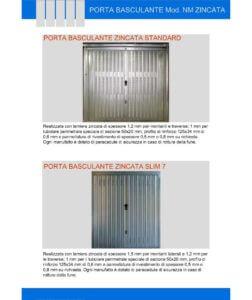 porta basculante zincata