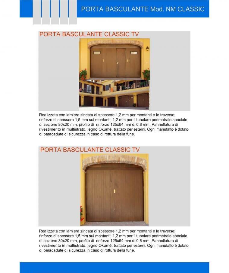 porta basculante classic tv