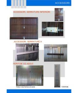 accessori, serrature inferiori, serrature h, feritoie ed asole