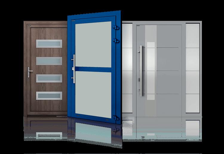 porte in alluminio interne ed esterne