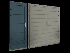 porte laterali in alluminio pannellate
