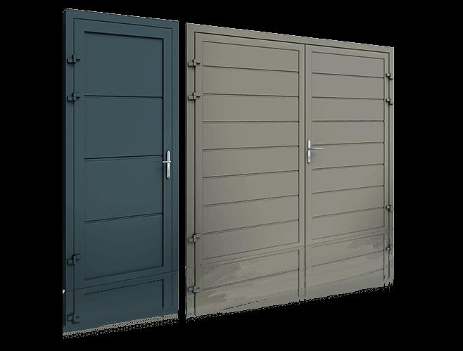 porte laterali in alluminio