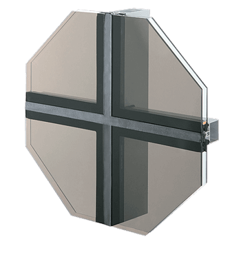 Facciate in alluminio MB-SR50 EFEKT