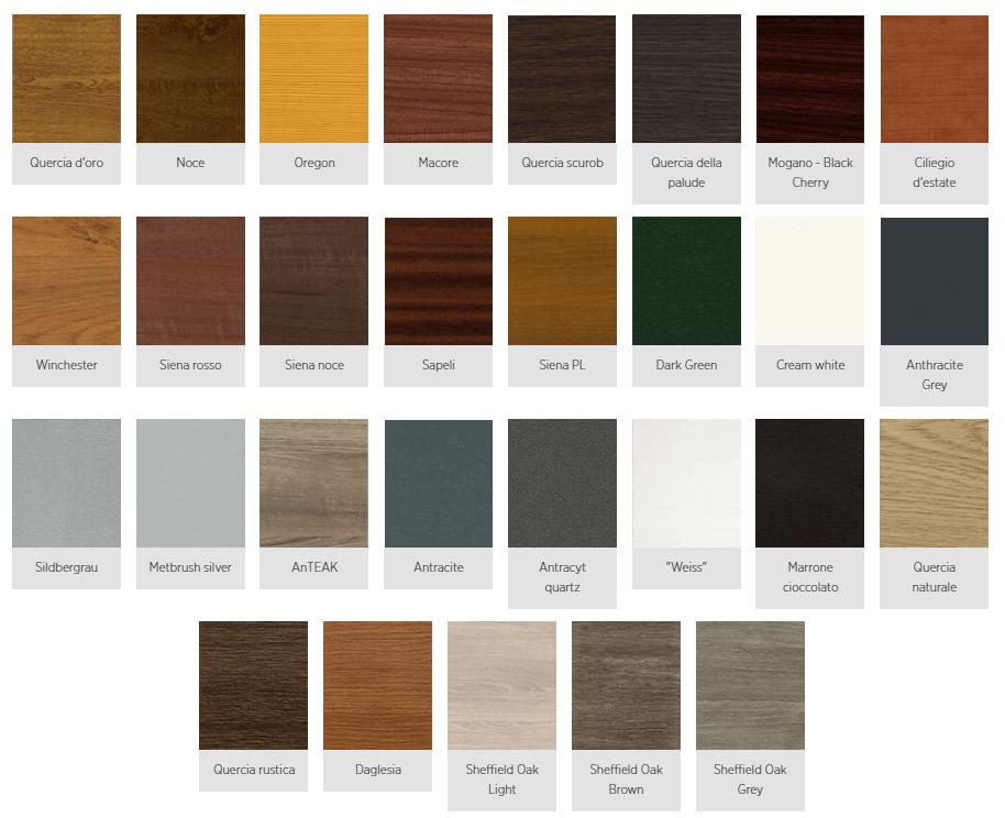 colori simil legno